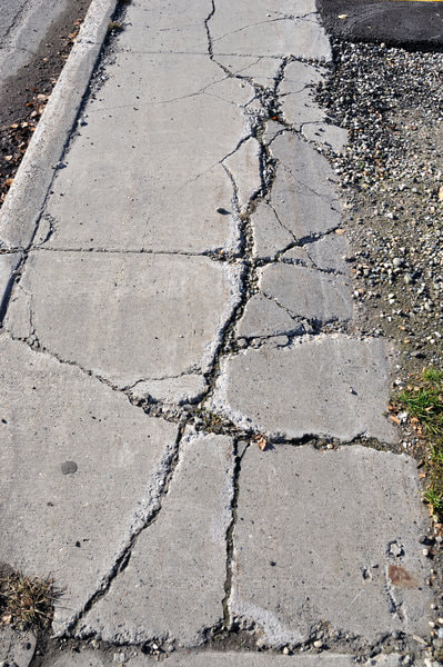 Our client desperately needed their concrete sidewalk repaired due to numerous cracks. This photo was taken on the street in Richmond BC.