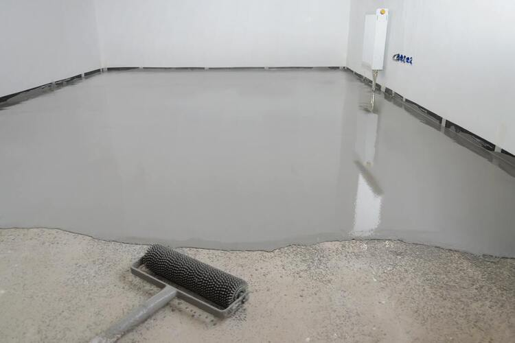 Our crew was working on some concrete floor leveling work for a project in Richmond.